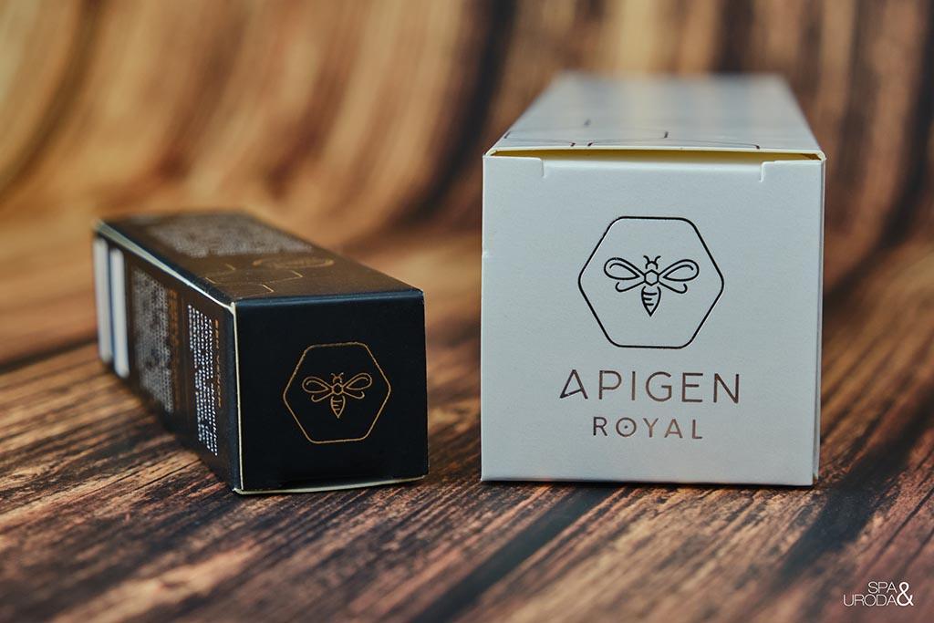 leżące kartoniki kosmetyków z pszczołą w logo