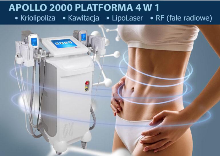 maszyna do kriolipolizy i kobieta z wyrzeźbionym brzuchem