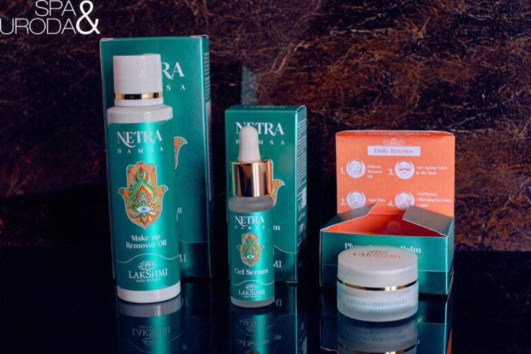 rozpakowane kosmetyki naturalne netra hamsa