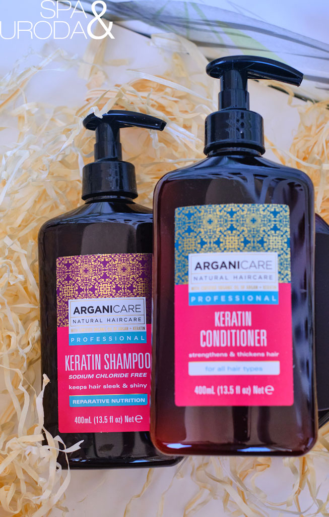 odżywka i szampon keratynowe do włosów