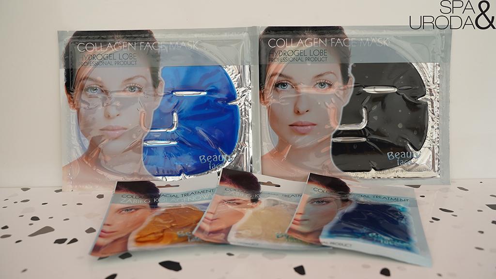 hydrożelowe maski kolagenowe na twarz