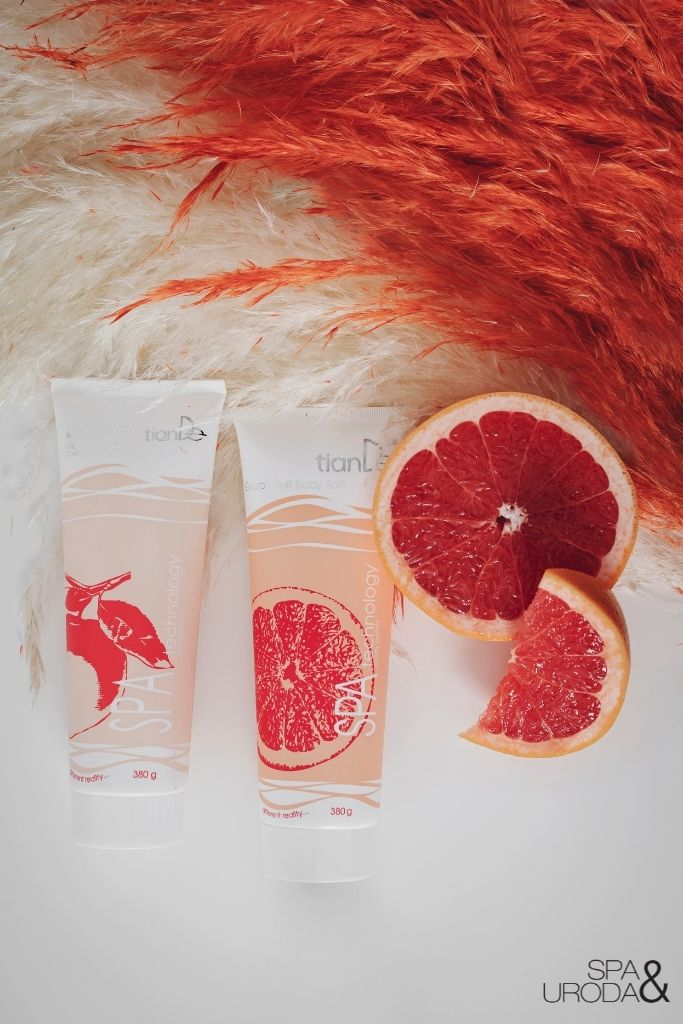 kosmetyki naturalne miodowo brzoskwiniowy i grejpfrutowy peeling solny