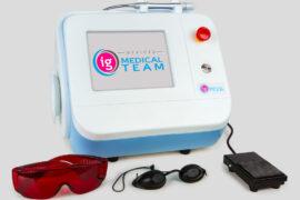 laser diodowy i okulary ochronne