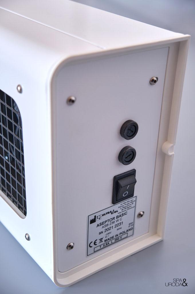 przełączniki i specyfikacja lampy uv-c