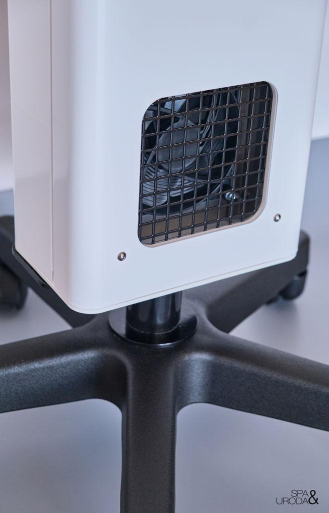 wentylator lampy uv-c mobilnej