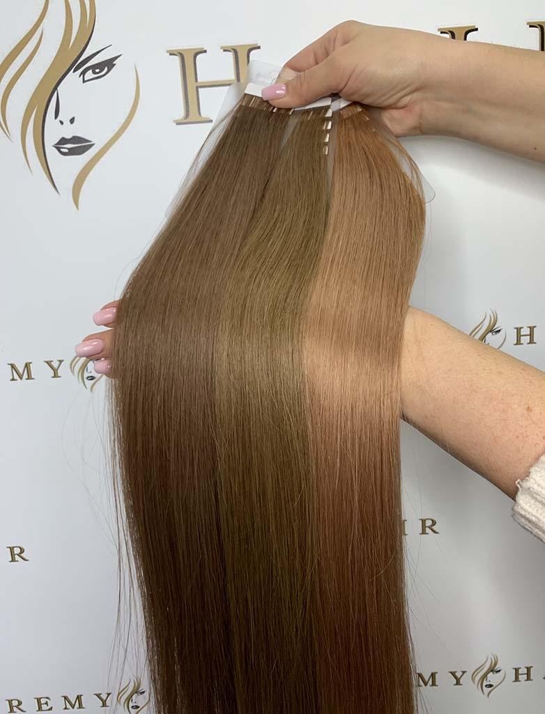 pasma włosów w brązowych odcieniach