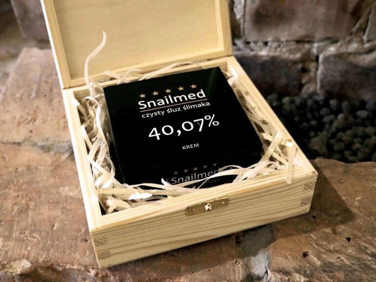 krem ze śluzem ślimaka w szkatułce