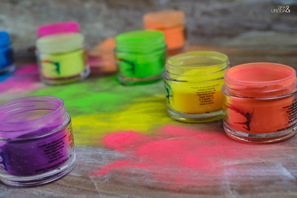 neonowe kolory pyłków